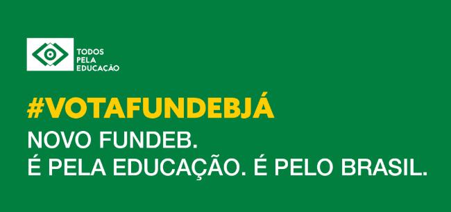 banner verde Vota Fundeb Já