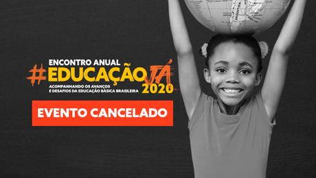 banner de evento cancelado do encontro anual do educação já - esse post fala sobre coronavírus
