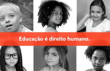 mosaico preto e branco de 6 fotos de rostos de crianças de etnias diferentes
