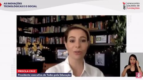 Priscila Cruz, presidente do Todos pela Educação, na TV Cultura - fundações