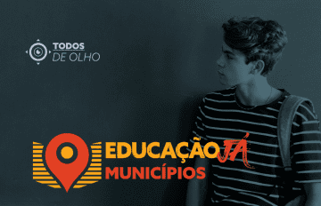 banner educação já municípios com jovem estudante