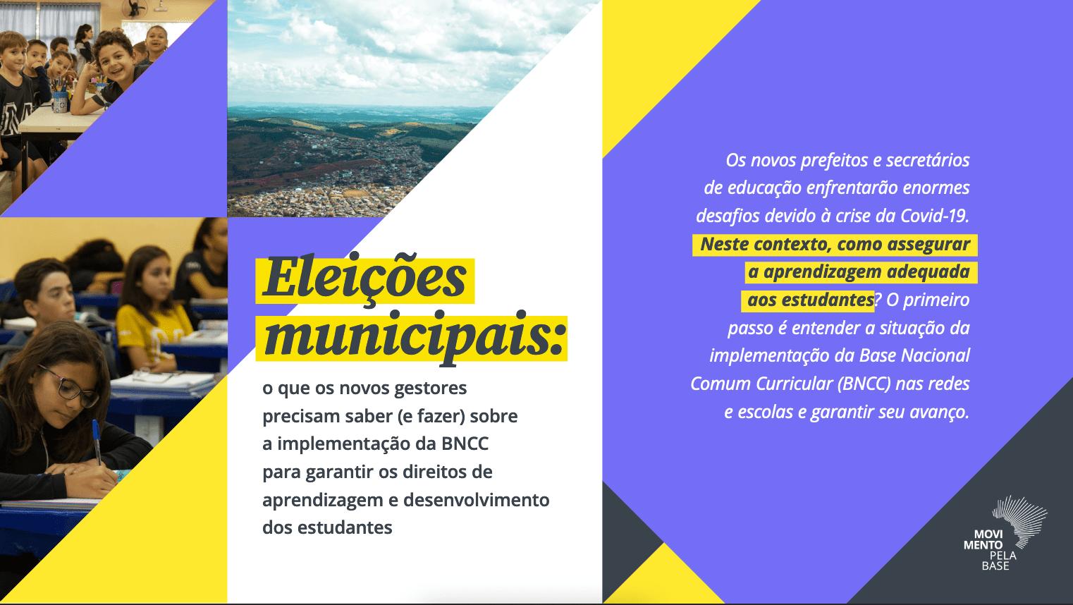 Eleições Municipais - Movimento Pela Base