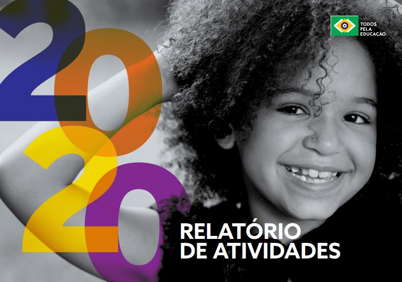 menina sorrindo e os escritos na frente relatorio de atividades 2020