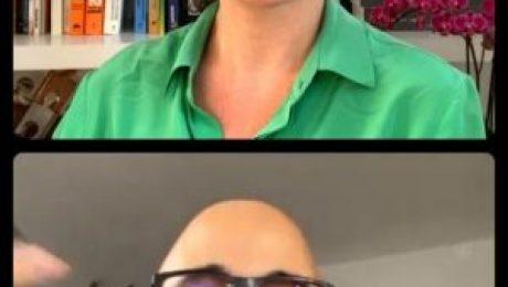 Print de tela de live do Instagram. Priscila Cruz e Ítalo Dutra conversando.