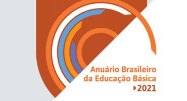 cores arredondadas em capa de relatório com os escritos: Anuário da Educação básica