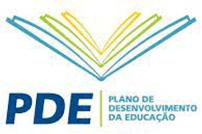 Logo PDE - Plano de desenvolvimento da educação