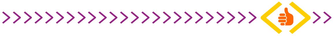 Ícone laranja de mão sinalizando joia com setas lilás na horizontal