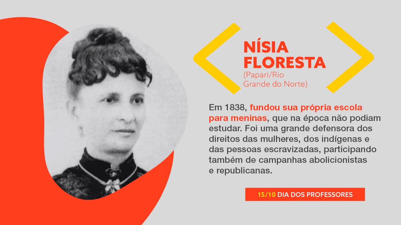 Foto Nísia Floresta. Mais texto explicativo. Clique no banner.